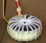 Toroidal transformer with HF braid